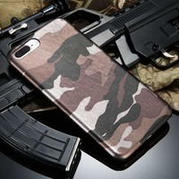 Phone Cases For iPhone 7 Plus iPhone 6 6S 5S 5 Case Cool Army Camo Camouflage Case For iPhone 6 6S Plus i5 5S SE Leather Cover