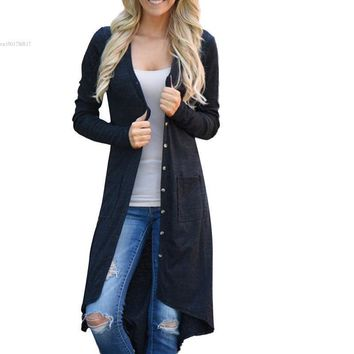 Long Sleeve Long Knitting Cardigan Cardigan Sweater Womens Knitted Female Cardigan