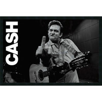 Amanti Art DSW577242 Johnny Cash - Finger: 37 x 25 Print Reproduction