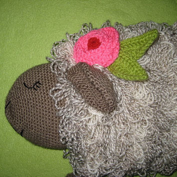 Crochet Pattern Sheep Hot Water Bottle Cover Cosy PDF