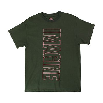 IMAGINE forest green tee by Altru Apparel