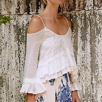 Free People FP X Woodstock Gauze Open Shoulder