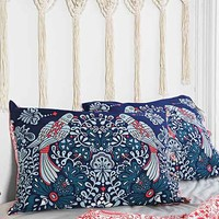 Plum & Bow Mirrored Love Birds Sham Set- Red One