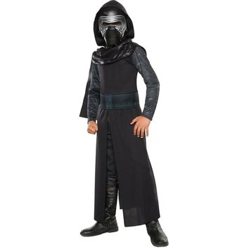 New Arrival Boys Deluxe Star Wars The Force Awakens Kylo Ren Classic Cosplay Clothing Kids Halloween Movie Costume