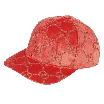 Light Red Velvet Feel Hat by Gucci