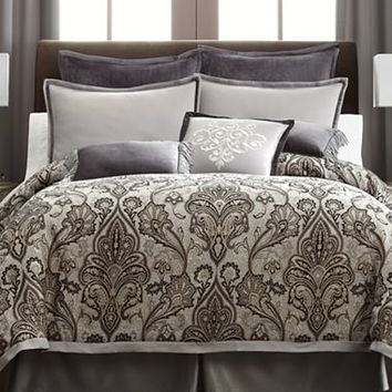 Royal Velvet® Lourdes Gray Comforter Set & Accessories