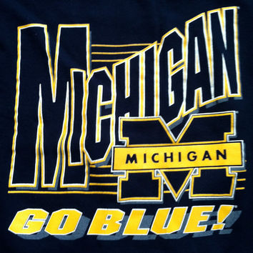 University of Michigan vintage crewneck sweatshirt 80s YL / Small NCAA Santee football