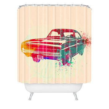 Naxart 1967 Dodge Charger 1 Shower Curtain