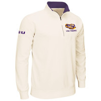 LSU Tigers Drive 1/4 Zip Pullover Sweatshirt – Cream