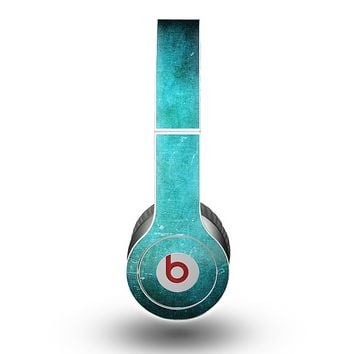 The Grunge Green Textured Surface Skin for the Beats by Dre Original Solo-Solo HD Headphones