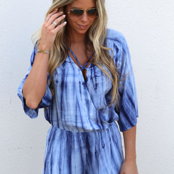 Ride Or Dye Crisscross Romper {Blue}