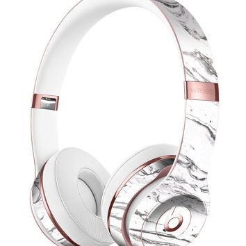 Mixtured BW Textured Marble Full-Body Skin Kit for the Beats by Dre Solo 3 Wireless Headphones