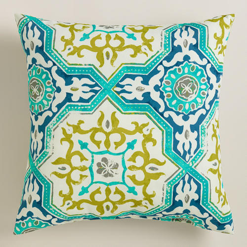 Sufi Tiles Outdoor Throw Pillow From Cost Plus World