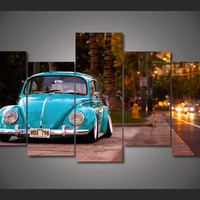 Volkswagen Beetle Bug Limted Edition 5-Piece Wall Art Canvas