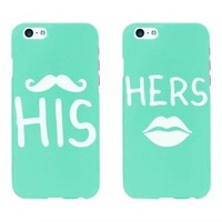 His and Hers Matching Couple Phone Cases in Mint - iPhone 6 Only - 365 Printing Inc