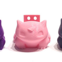 Bulbasaur Indoor Wall Planter, 3D Printed, Pokemon Gift,  Ring Holder, Holiday Decor,, Succulent, Grass, Pink, Green  etc