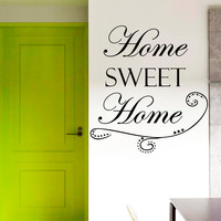 Wall Decal Quotes Home Sweet Home Family Design Vinyl Decals Living Room Bedroom Hotel Hostel Window Stickers Home Decor Art Mural 3753