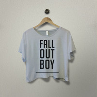 Fall Out Boy Crop T-Shirt Crop Shirt Crop Tees