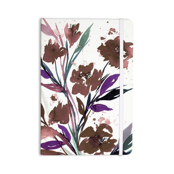 "Ebi Emporium ""Pocket Full Of Posies Brown"" Beige White Everything Notebook"