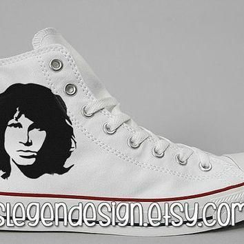 the doors painted shoes jim morrison custom converse