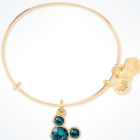 Disney Mickey Mouse Birthstone Bangle by Alex and Ani December Gold Finish New