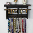 Necklace Organizer Display with shelf and bangle bar