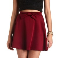 BOW-FRONT HIGH-WAISTED SKATER SKIRT