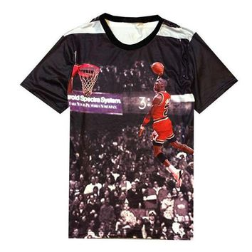 CREYUG7 2015 NEW Print michael Jordan shirt mens O neck 3D image jersey fashion jordan dunk te