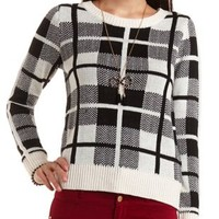 Plaid Pullover Sweater by Charlotte Russe