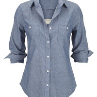 Silver Jeans ® Button Down Denim Shirt - Light Wash