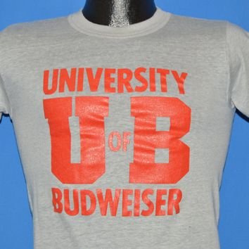 80s University of Budweiser Beer t-shirt Extra Small