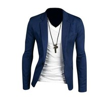 jeansian Men's Fashion Jacket Outerwear Tops Blazer 8966