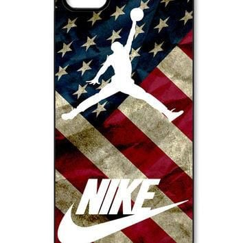 vintage us flag air jordan basketball iPhone 5/5s Case