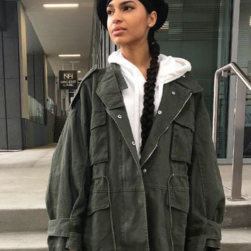 COMMON CARGO MILITARY ANORAK JACKET