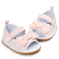Newborns Denim Summer Sandals for Girls Children's Casual Bowknot Denim Sandals and Shoes For Newborns Baby Booties sapato