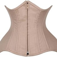 Daisy Corsets Top Drawer CURVY Tan Cotton Double Steel Boned Under Bust Corset