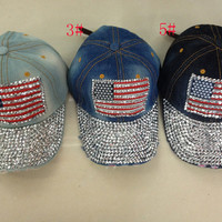 Women Diamond Flag Hat