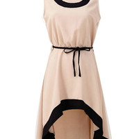 'The Savanna' Apricot High-Low Hem Dress