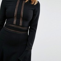 Millie Mackintosh Fluted Sleeve Dress at asos.com
