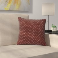 Julia Grifol Triangles Pattern Outdoor Throw Pillow