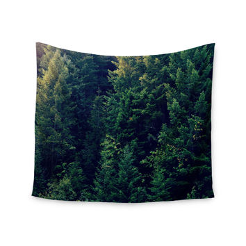"Robin Dickinson ""Red In Woods"" Forest Wall Tapestry"
