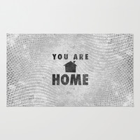You Are Home Area & Throw Rug by Josh Franke | Society6