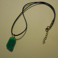 Natural Jade Drop Necklace