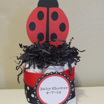 Ladybug Mini Diaper Cake Centerpieces for baby shower or gift