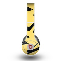 The Yellow & Black High-Heel Pattern V12 Skin for the Beats by Dre Original Solo-Solo HD Headphones