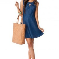 Dobbins Chambray Dress - ShopSosie.com