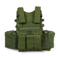 Military Tactical Vest  Hunting Chest Rig Gear Load Carrier Molle Vest with Hydration Pocket Carrier Tactical Vest for Hunting