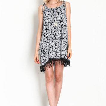 Paisley Crochet Fringe Dress