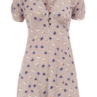 Taupe floral 40's tunic - View All Sale  - Sale & Offers  - Dorothy Perkins