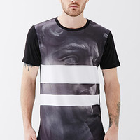 Striped Statue Graphic Tee